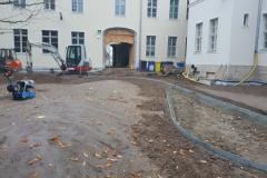 Schulhof und Spielplatzanlagen, Pflanzungen